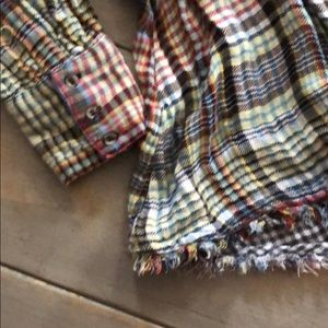 Free People Tops - Free People Plaid Flannel Button Down SZ M